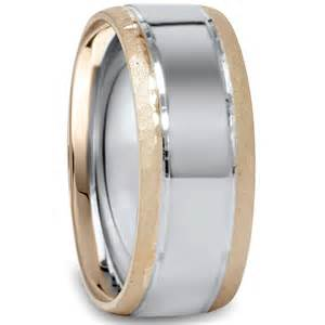 white gold wedding bands for women mens 8mm hammered 14k white yellow gold two tone wedding