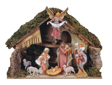fontaninistore com 7 5 inch scale 8 piece nativity set