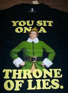 elf  farrel throne  lies  shirt medium christmas