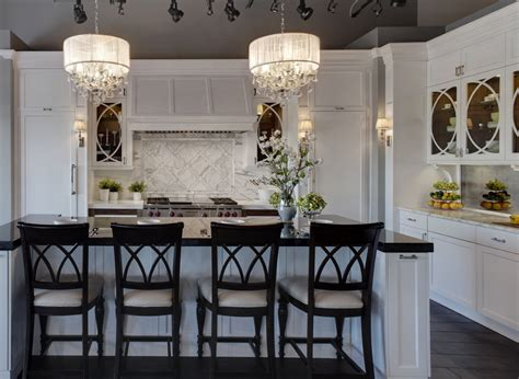 kitchen island chandelier crystal chandeliers add glamour to your home decor
