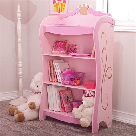 Kid Bookcase by Kidkraft Pink Princess 4 Shelf Bookcase 76126