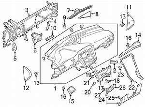 Ford Fusion Instrument Panel Bezel  2013
