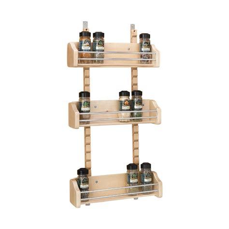 Adjustable Spice Rack by 10 1 8 Adjustable Door Mount Spice Rack Bin Only Maple