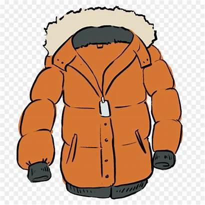 Coat Clip Clipart Cartoon Winter Jacket Outerwear