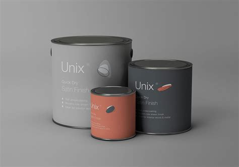 High quality paint bucket tin mockup, easy to use and fully editable mockup. Free Metal Paint Buckets Mockup | Mockuptree