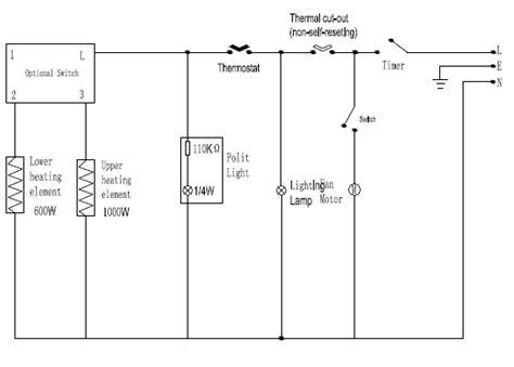 esquema de conexion horno electrico atma con grill yoreparo