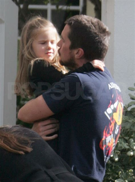 Photos of Christian Bale in LA with Wife Sibi and Daughter