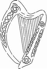 Harp Celtic Irish Stencil Stamps Crafty Stencils Coloring Sheets Fun Stamping Stickers Language Pages Embroidery Hover Zoom sketch template