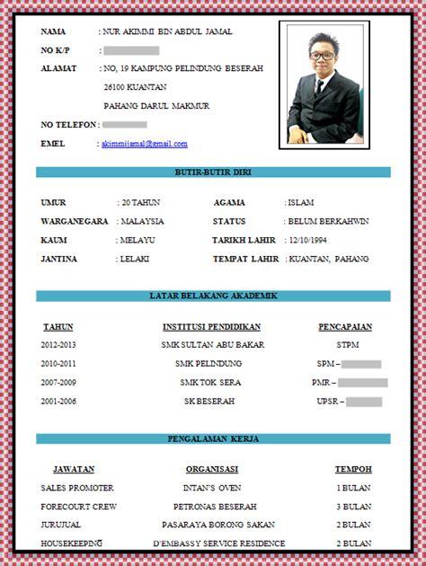 Buat Resume Guna Microsoft Apa by Contoh Resume 3