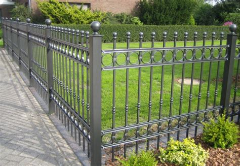 decorative metal garden fencing fence ideas