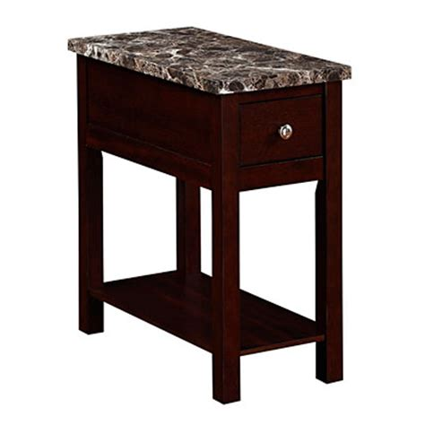 big lots side tables espresso finish faux marble chairside table big lots
