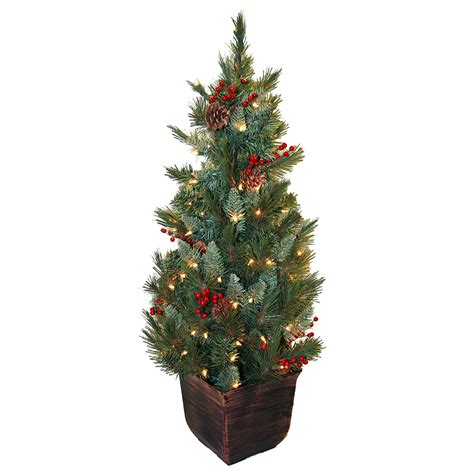 3ft everyday collections potted feel real artificial christmas tree potted trees buy potted tree santa s site