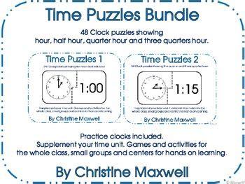time puzzles bundle  images  grade activities