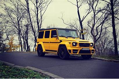 G63 Mercedes Benz Brabus Suv Wallpapers Yellow