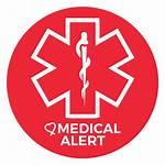 Medical Alert Patch Icon Sticker Teal Medicine
