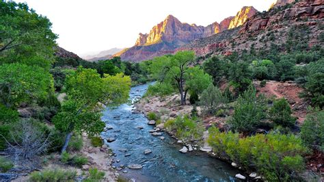 wondeful nature tourist place wallpaper  zion national