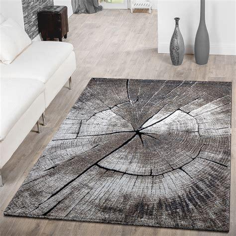 Teppich Modern Edel Mit Konturenschnitt Baumstamm Natur