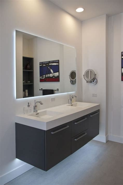 Modern Bathroom Mirror Designs by 15 Inspirations Large Frameless Bathroom Mirror Mirror Ideas
