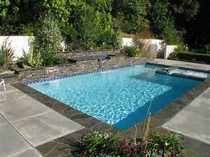 awesome pool design with blue tile floor ideas for With swimming pool designs small yards
