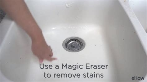 how to clean white kitchen sink how to clean a white sink and remove stains 8591