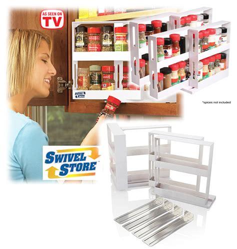 spice cabinet organizer shelf swivel store deluxe spice rack storage system cabinet