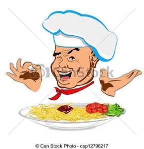 Italian Chef Spaghetti Clip Art