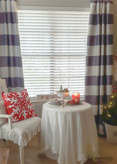 in the kitchen and new curtains diy beautify
