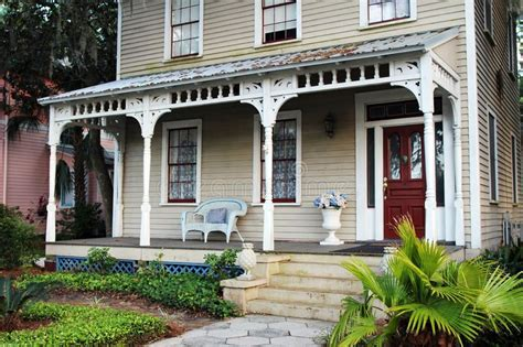 Southern Style Porches by An Southern Style House With A Front Porch Stock Photo
