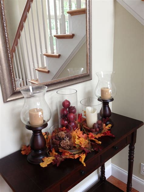 fall entryway decor pretty console table with fall decor decoration ideas pinterest home foyers and autumn