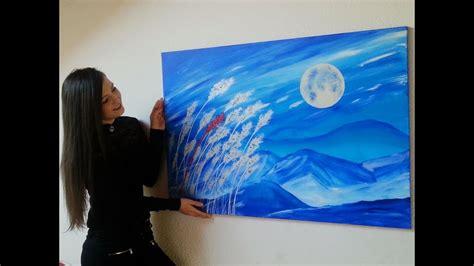 malen mit acrylfarben mond aehren moon acrylic