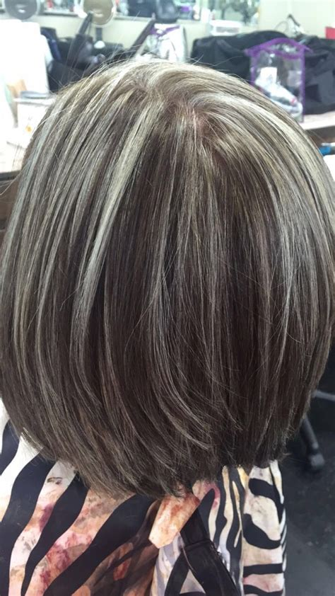 gray hair highlights ideas  pinterest grey