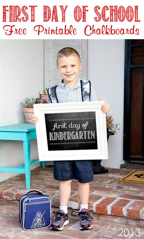 first day of school chalkboard back to school ideas and printables
