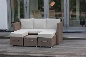 Gartenmöbel Polyrattan Lounge : consul garden sofa sydney inkl kissen gartenm bel lounge aluminium polyrattan ~ Indierocktalk.com Haus und Dekorationen