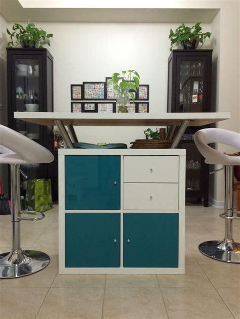 kallax shelf  table top  ikea