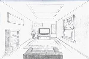 room in perspective | Single point perspective room by A ...