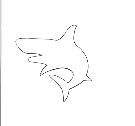 shark template shark drawing template