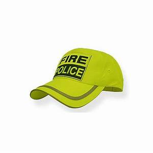 TheFireStore Fire Police Hat Hi Vis Neon Yellow with