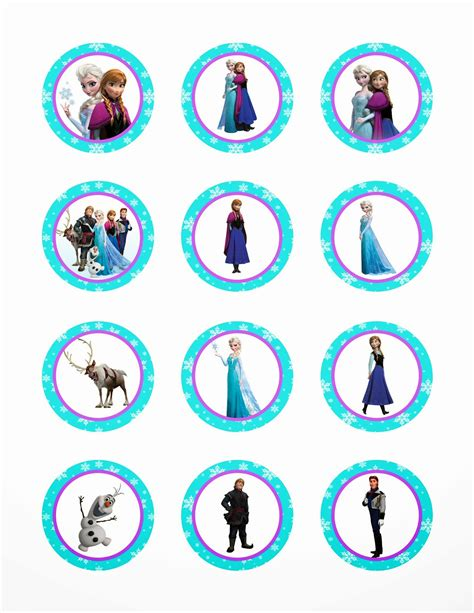 share disney frozen printable cupcake toppers