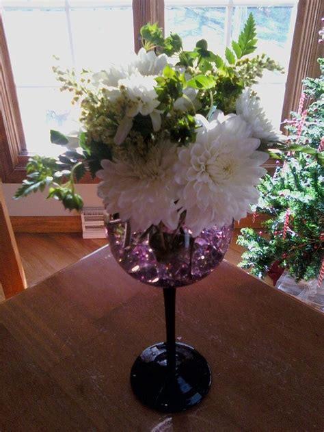 flower arrange  wine glass wine glass flower