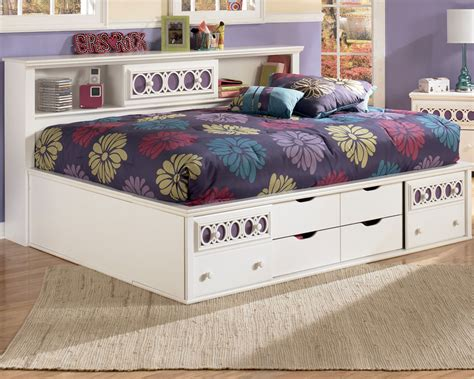 full size platform bed with storage and bookcase headboard contemorary bedroom with full size platform bed storage