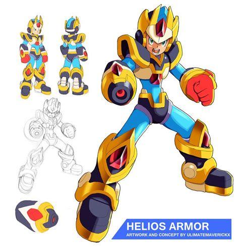 Megaman X9 Helios Armor By Ultimatemaverickx On