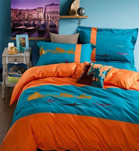 vintage style bedding sets image gallery orange teal bedding