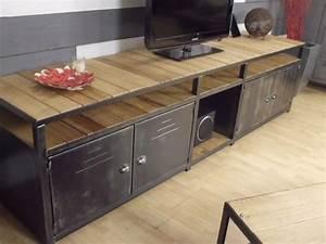 Buffet Industriel Ikea : meuble rangement loft meubles pinterest steel furniture wood steel and metal furniture ~ Teatrodelosmanantiales.com Idées de Décoration