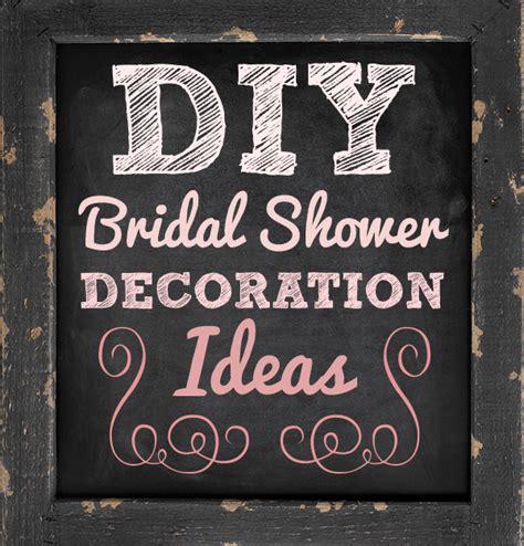 easy diy bridal shower decoration ideas