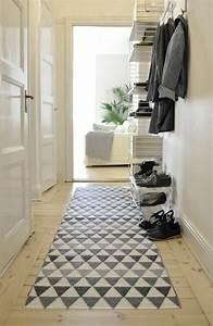 tapis de couloir et d39entree aux motifs rigolos With tapis pour couloir d entrée