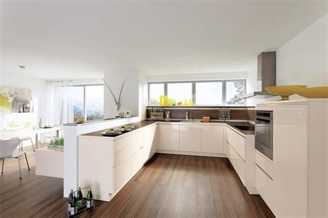 exemple de cuisine en u cuisine beige
