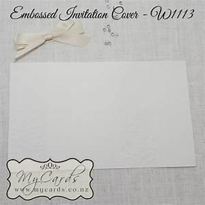 embossed wedding invitation cover cream w1113 With embossed wedding invitations nz