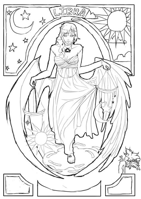 Libra by ravenmadison17 | Detailed coloring pages