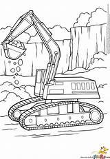 Coloring Excavator Pages Printable Digger Colouring Construction Excavators Truck Bulldozer Boyama Backhoe Sayfaları Trucks Tractor Website Alphabet Equipment Sheets Printables sketch template