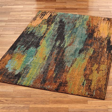 Rugs With by Oxidation Multicolored Abstract Area Rugs